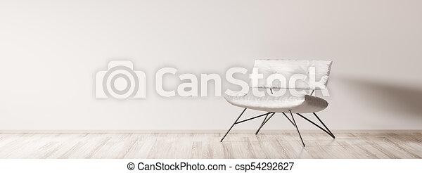 Interior con sillón 3D - csp54292627