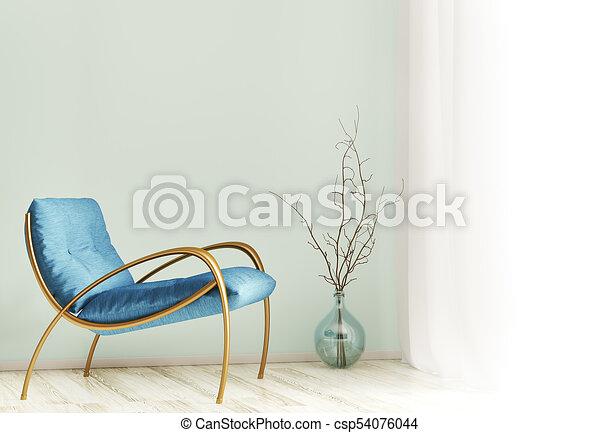 Interior con sillón 3D - csp54076044