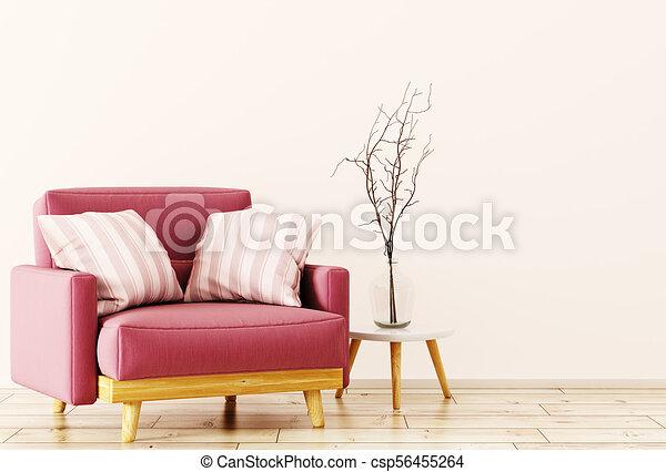 Interior con sillón 3D - csp56455264