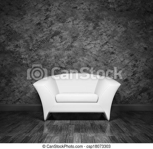 Interior con sillón - csp18073303