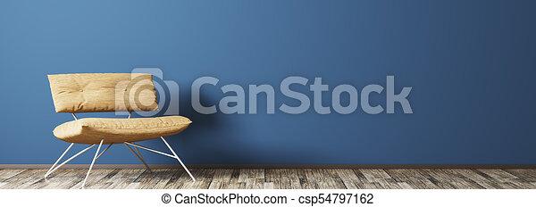 Interior con sillón - csp54797162