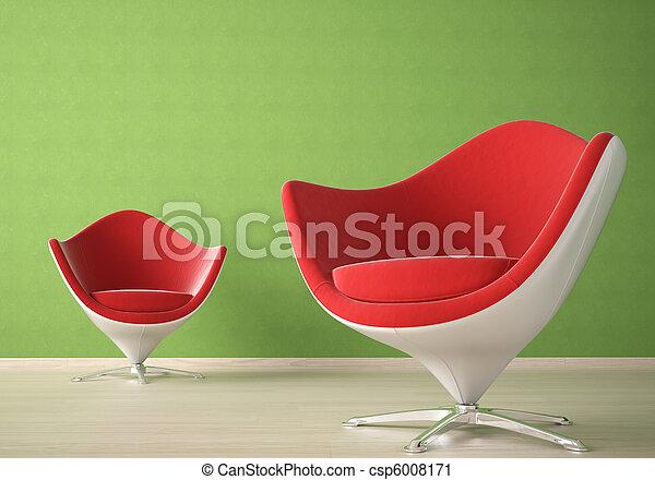 Diseño interior con dos sillas - csp6008171
