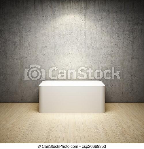 Un blanco vacío en la habitación interior - csp20669353