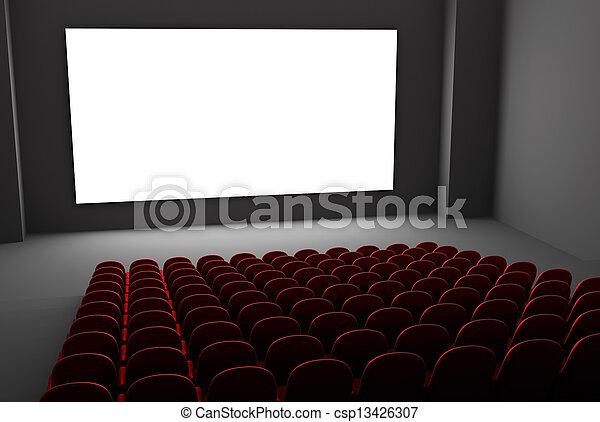 interior, teatro película - csp13426307