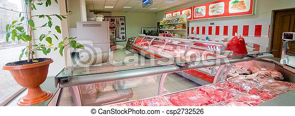 interior, tienda, carnicero - csp2732526