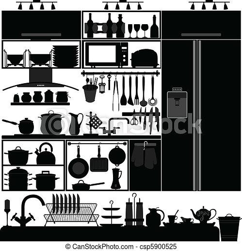 Interior de herramientas utensilios de cocina - csp5900525