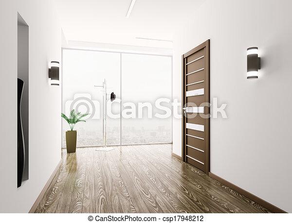 Interior de Hall - csp17948212