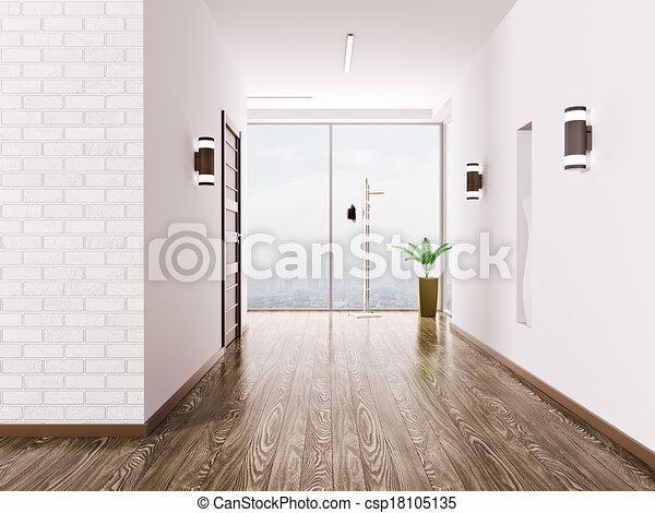 Interior de Hall - csp18105135