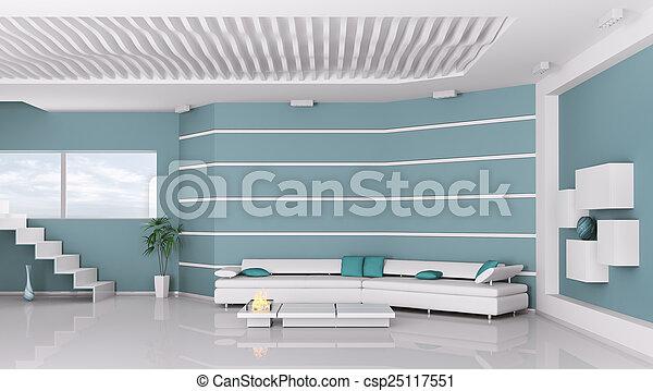 Interior de la sala moderna - csp25117551