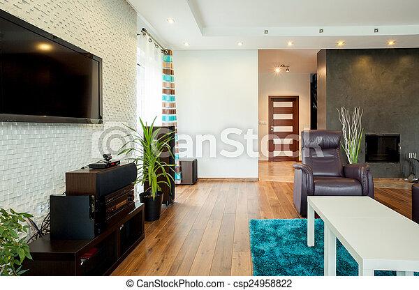 Interior de la sala moderna - csp24958822