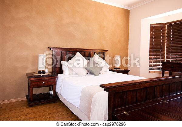Interior view of master bedroom - csp2978296