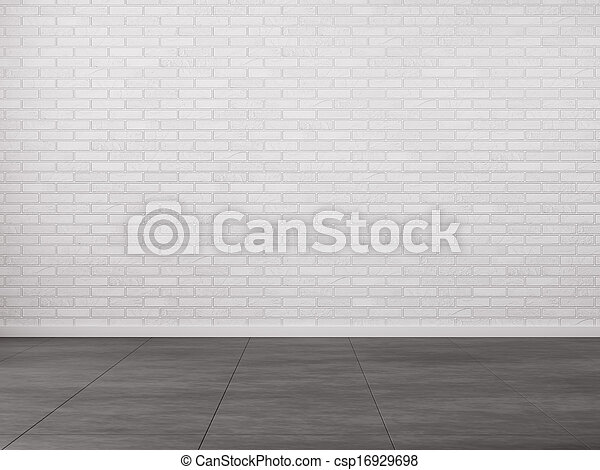 Interior with brick wall - csp16929698