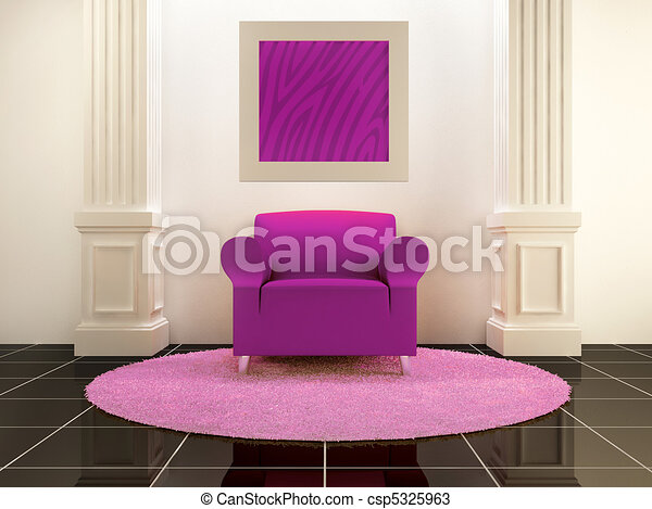 Interiors - violet seat between the columns drawings - Search ...