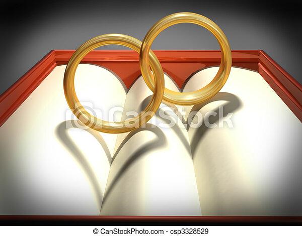 Interlocking Wedding Rings.Interlocking Wedding Rings
