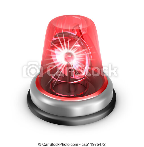 Un icono rojo. Aislado en blanco - csp11975472