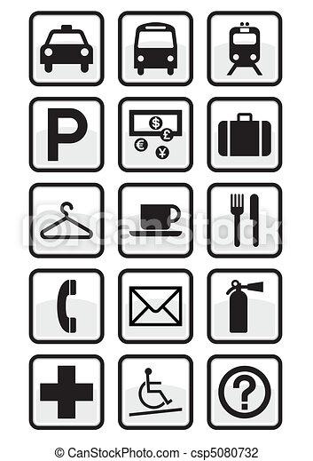 Set de señales de servicio internacional. - csp5080732