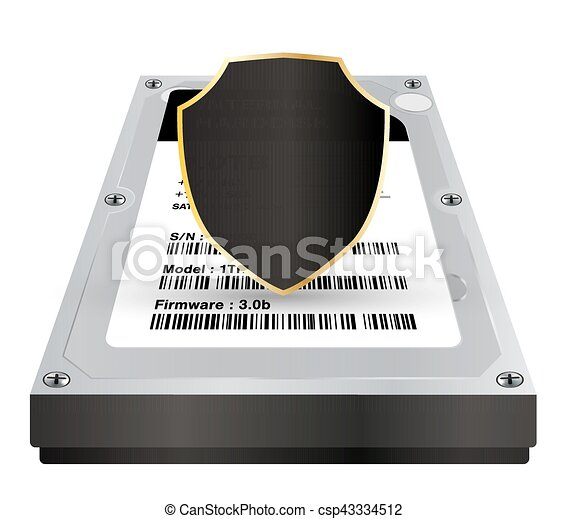 internal harddisk with a protection data shield - csp43334512