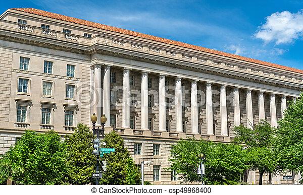 Internal Revenue Service Building in Washington DC, USA - csp49968400