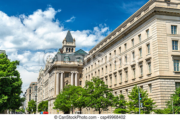 Internal Revenue Service Building in Washington DC, USA - csp49968402
