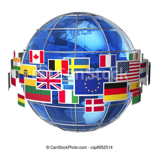 internationaal, concept, communicatie - csp8952514