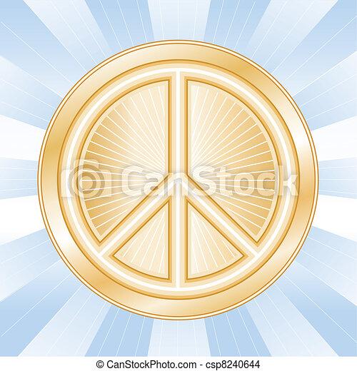 internationaal symbool, vrede - csp8240644