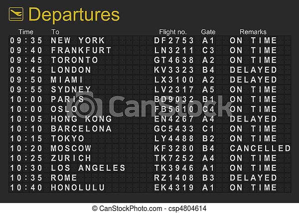 International Airport Departures Board - csp4804614