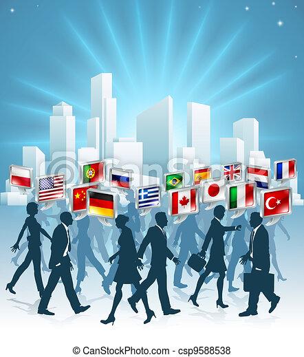 international, concept, business - csp9588538