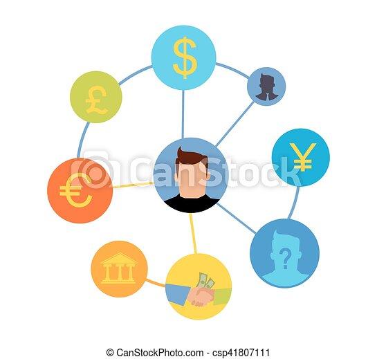 International Currency Exchange Vector Concept International