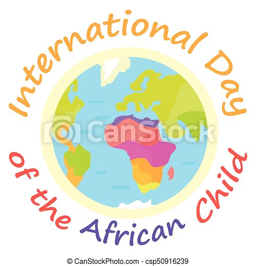 international day of african child holiday poster with earth rh canstockphoto com summer holiday vectors holiday vector art