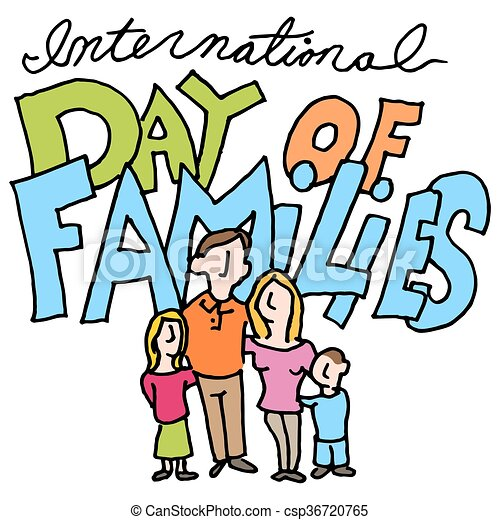 an image of a international day of families clip art vector rh canstockphoto com clipart of family and friends day clip art of family members