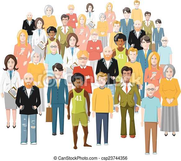 international group of people old and young from different rh canstockphoto com Group of People Clip Art Transparent Group of People Clip Art Transparent