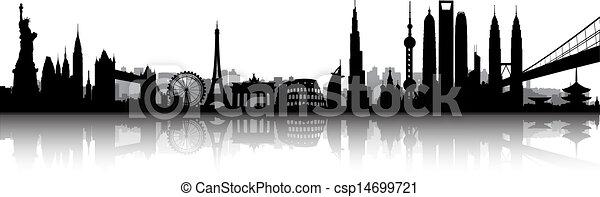 international, horizon, vecteur - csp14699721