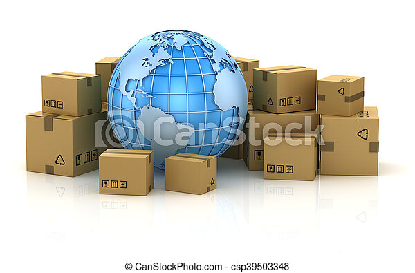 International package delivery concept - csp39503348