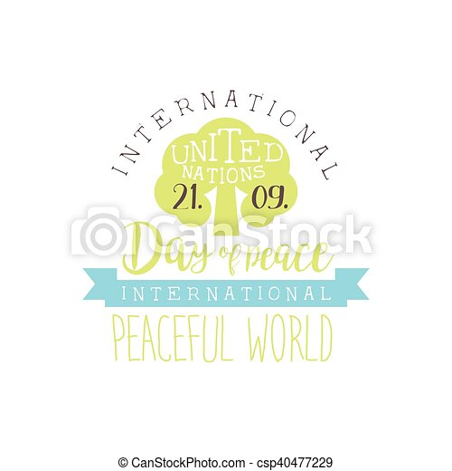 international peace day label designs in pastel colors vector logo