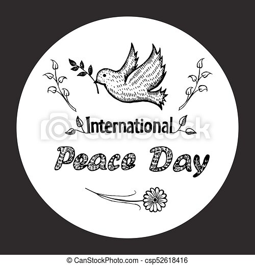 International Peace Day Vector Illustration Logo International