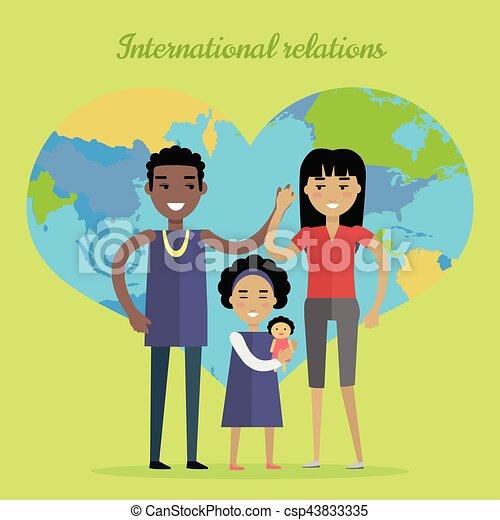International Relations Flat Design Vector Concept - csp43833335