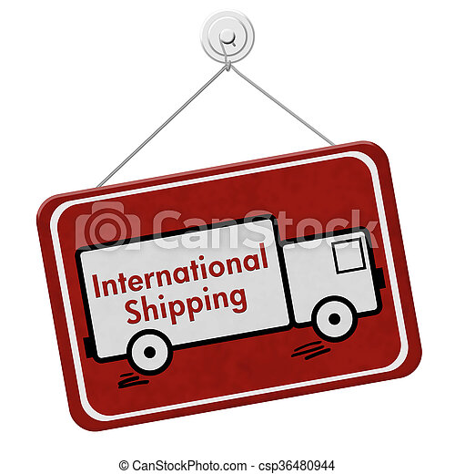 International Shipping Sign - csp36480944