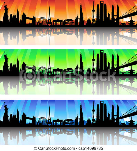 International skyline vector Set - csp14699735