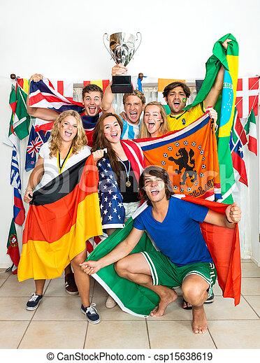 International Sports fans  - csp15638619