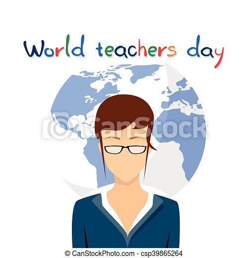 International teacher day holiday woman over world map background international teacher day holiday woman over world map background csp39865264 gumiabroncs Image collections