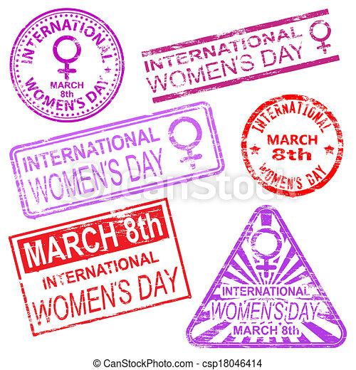 international, timbres, jour, femmes - csp18046414