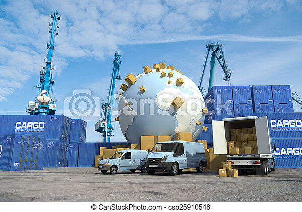 International transport, docks - csp25910548