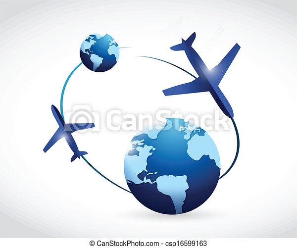 International Travel Concept Illustration Design Over A Clip Art