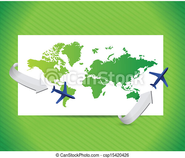 International Travel Concept Illustration Design