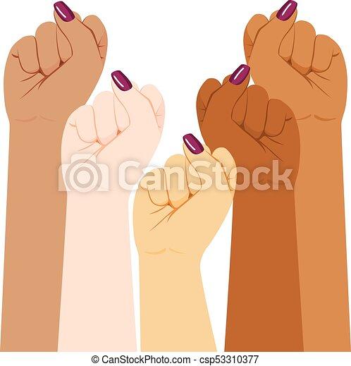 International Woman Diversity Fist - csp53310377