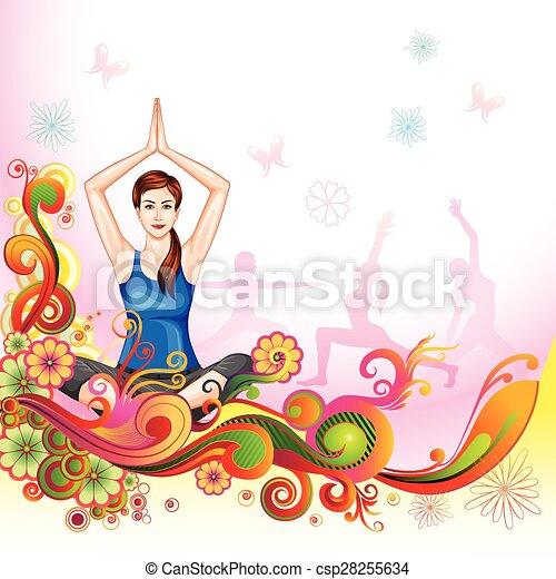 Vector Illustration Of Poster Design For Celebrating International Yoga Day