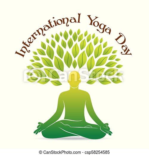 International Yoga Day Poster Design Creative Poster Design Of International Yoga Day Celebrate 21 June Men Doing Yoga
