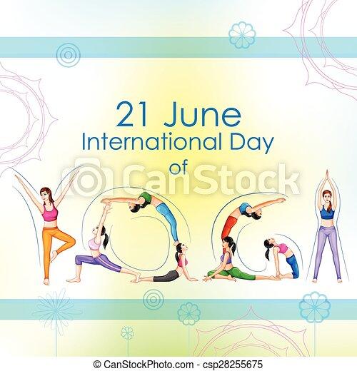 international, yoga, jour - csp28255675