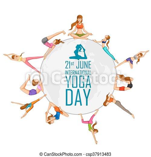 international, yoga, jour - csp37913483