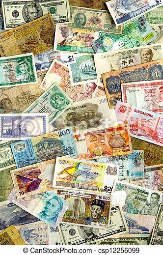 internazionale, valute - csp12256099